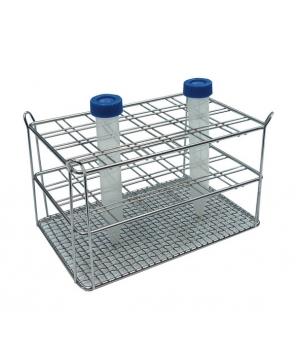 Portoir pour tube à centrifuger en acier inoxydable