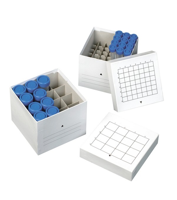 Carton freezer box for centrifuge tubes for Boite en carton decorative