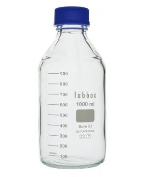 Flacon gradué ISO en verre borosilicaté 3.3
