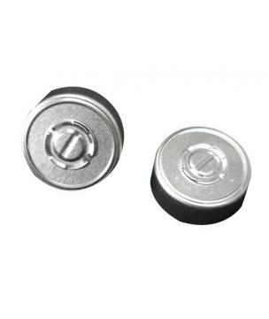 Bouchon et capsule pour flacon avec col à sertir de 20 mm