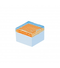 PC freezer storage boxes for cryotubes with numeric graduation on lid