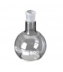 Ballon sphérique à fond plat, col rodé, GLASSCO
