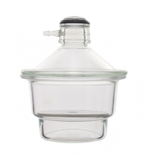 Vacuum type desiccator with lid and rotating sleeve valve
