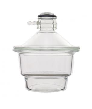 Dessiccateur à vide, couvercle en verre avec olive latérale