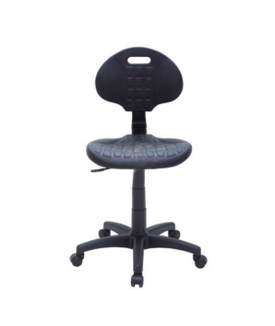 Low laboratory chair with wheels