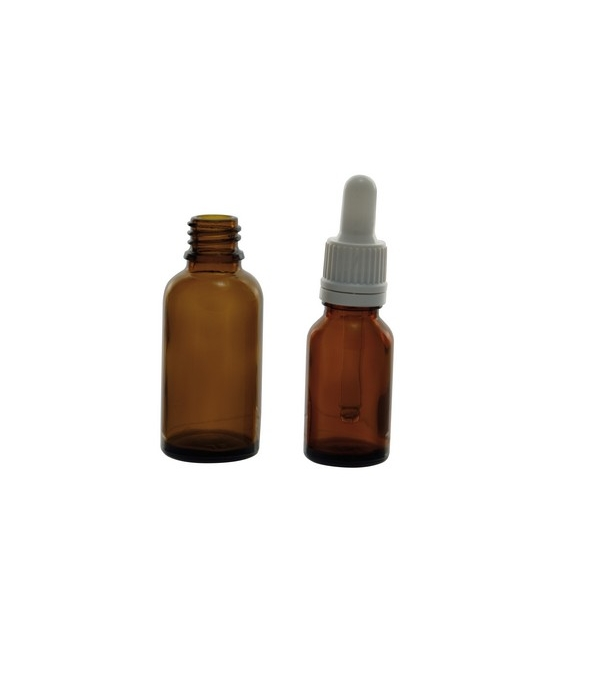 f952cafef328 Glass bottle amber with counter drop screw cap DIN-18 - LabMaterials ...